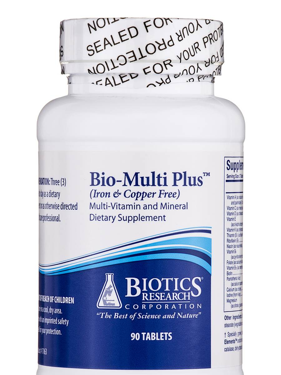 Bio-Multi Plus Iron & Copper Free - 90 Tablets