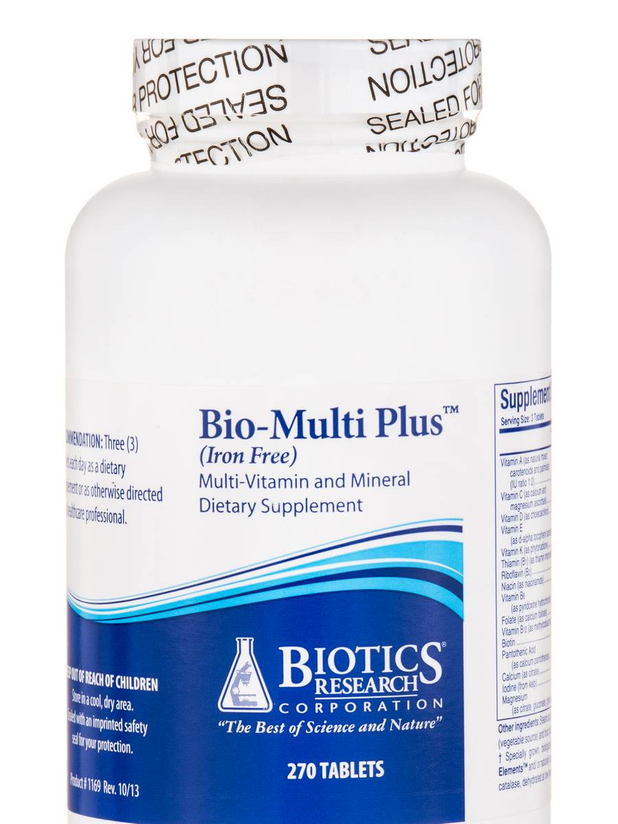 Bio-Multi Plus™ Iron Free - 270 Tablets