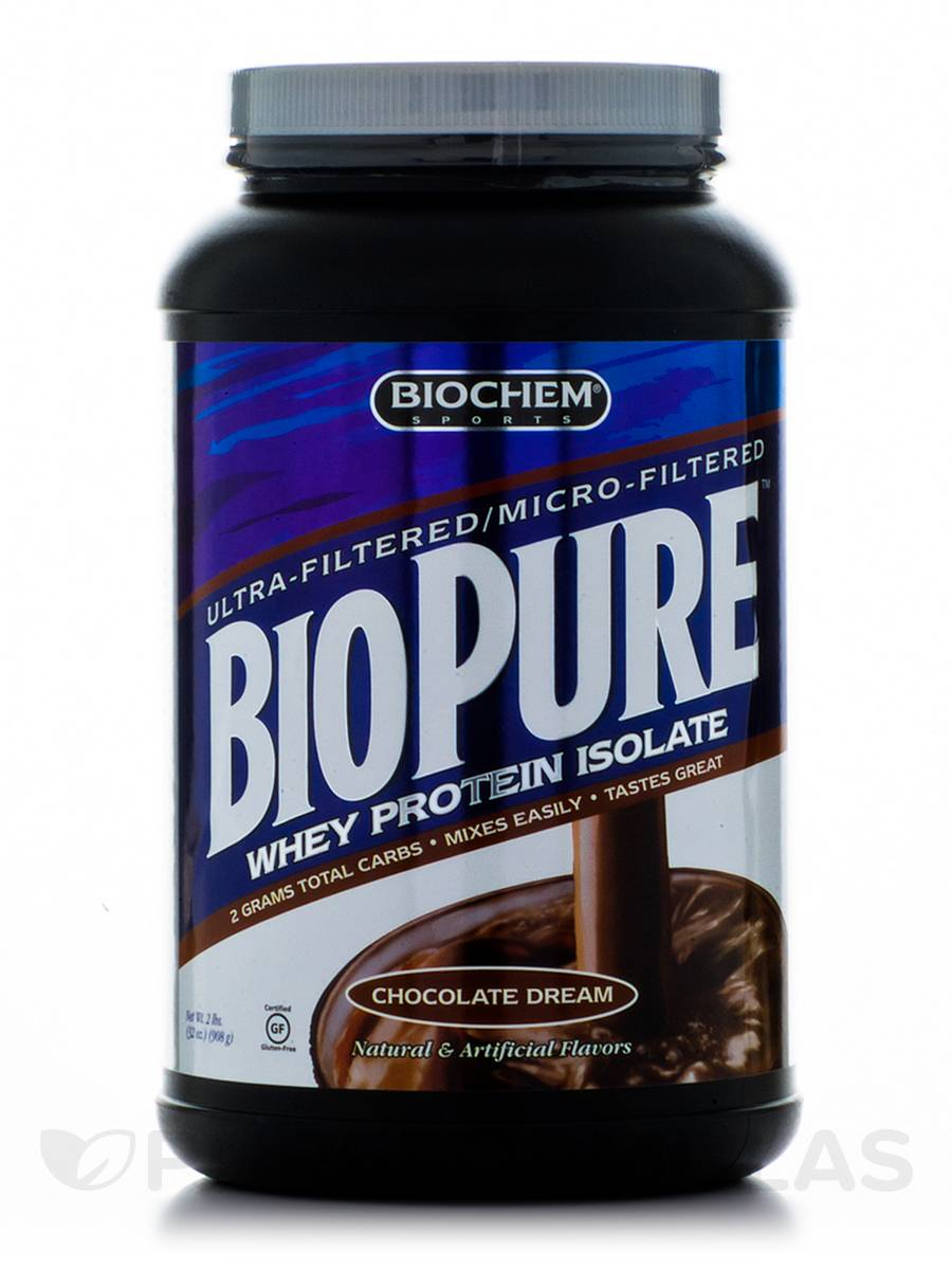 BioPure™ Whey Protein Isolate Powder, Chocolate Flavor - 2 lbs (32 oz / 908 Grams)