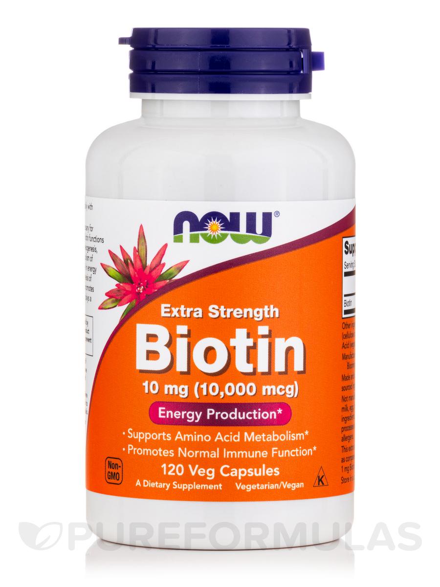Biotin 10 mg (Extra Strength) - 120 Veg Capsules