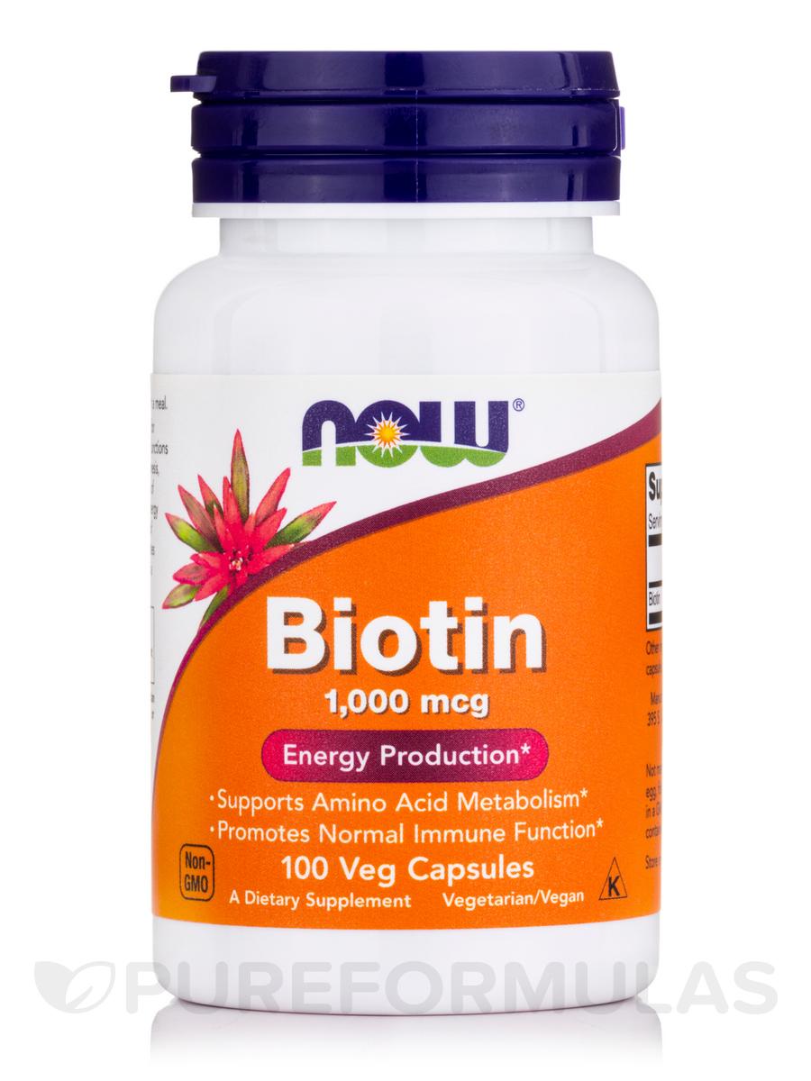 Biotin 1000 mcg - 100 Capsules