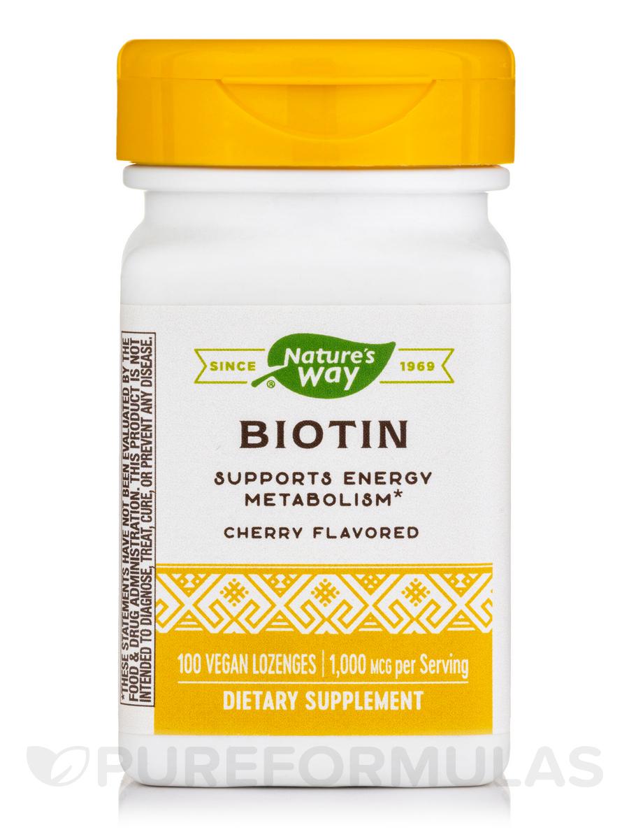 Biotin 1000 mcg, Cherry Flavor - 100 Lozenges