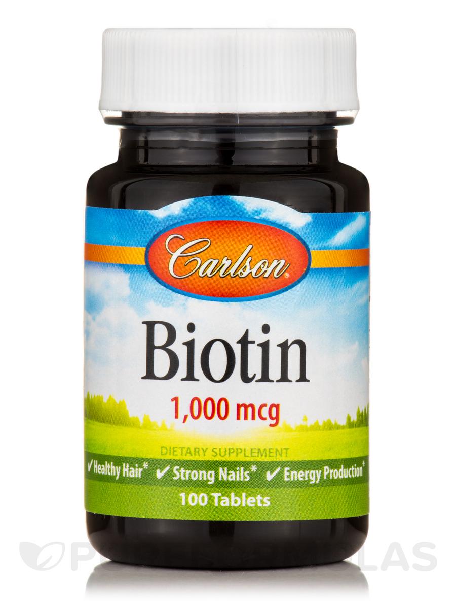 Biotin 1000 mcg - 100 Tablets