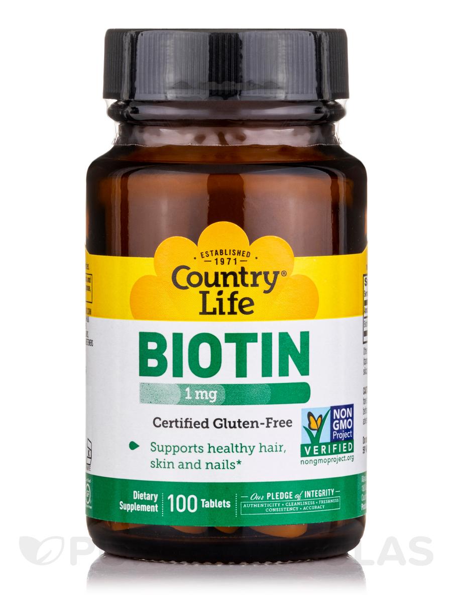Biotin 1 mg - 100 Tablets