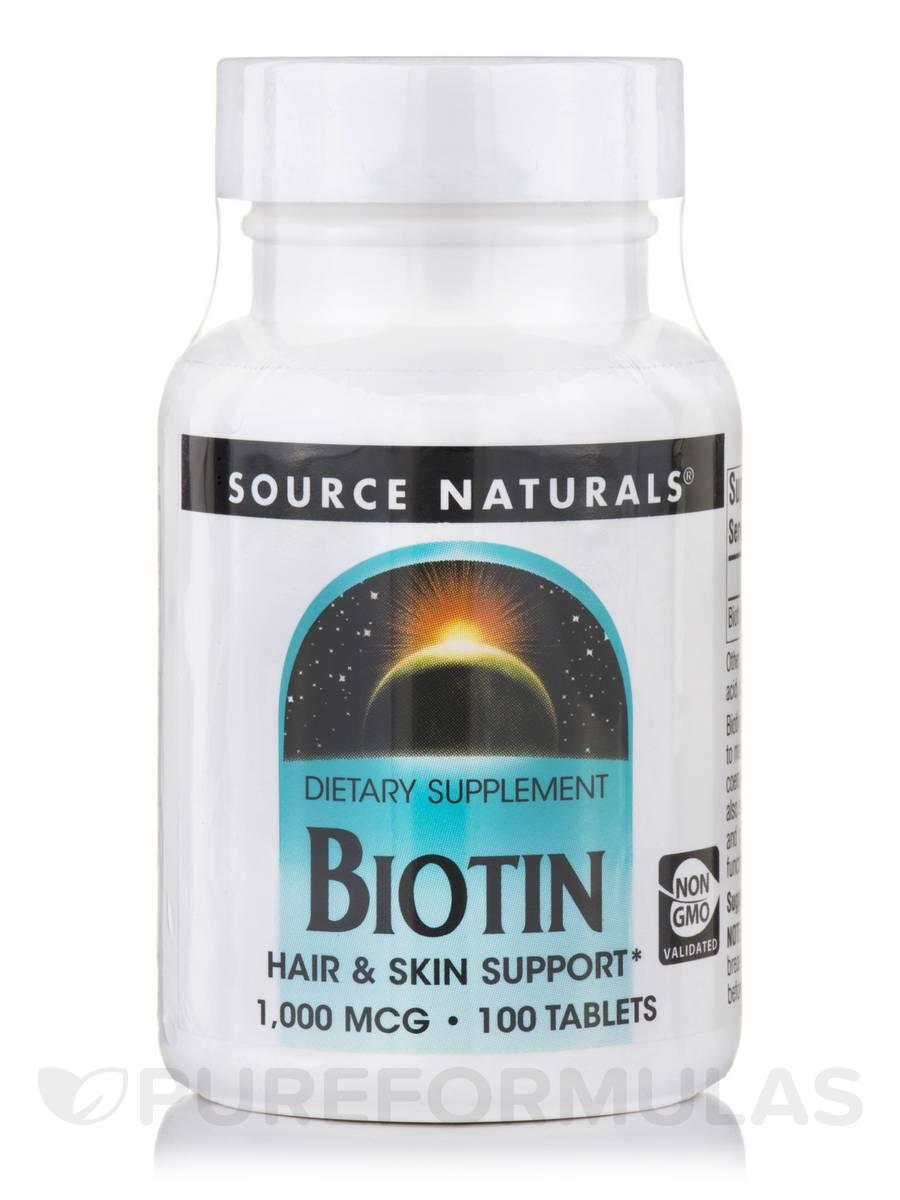 Biotin 1,000 mcg - 100 Tablets