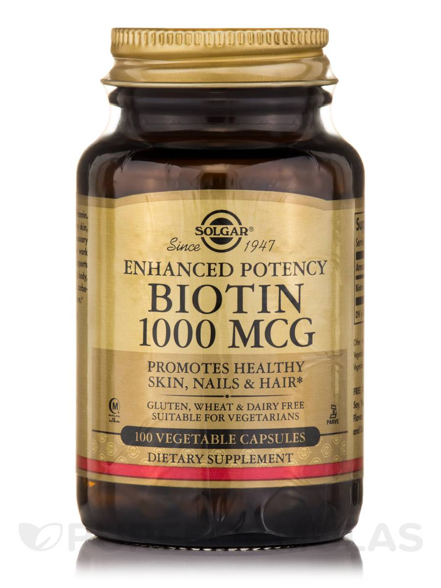 Biotin 1000 mcg - 100 Vegetable Capsules