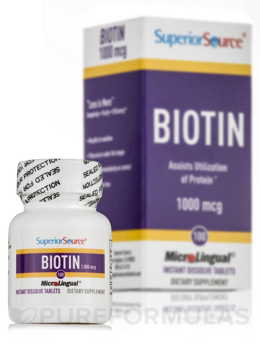 Biotin 1000 mcg - 100 Dissolvable Tablets