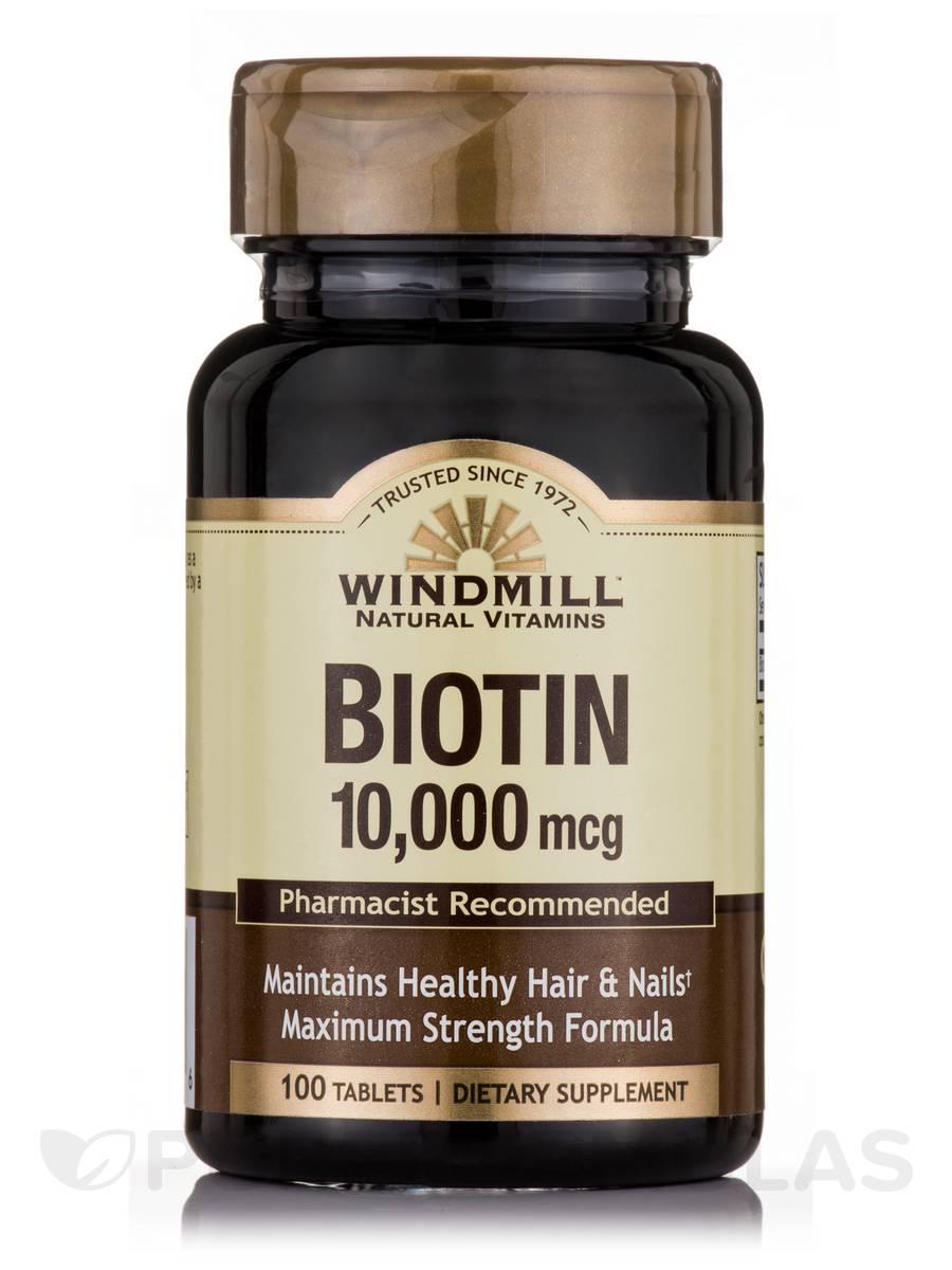 Biotin 10,000 mcg - 100 Tablets