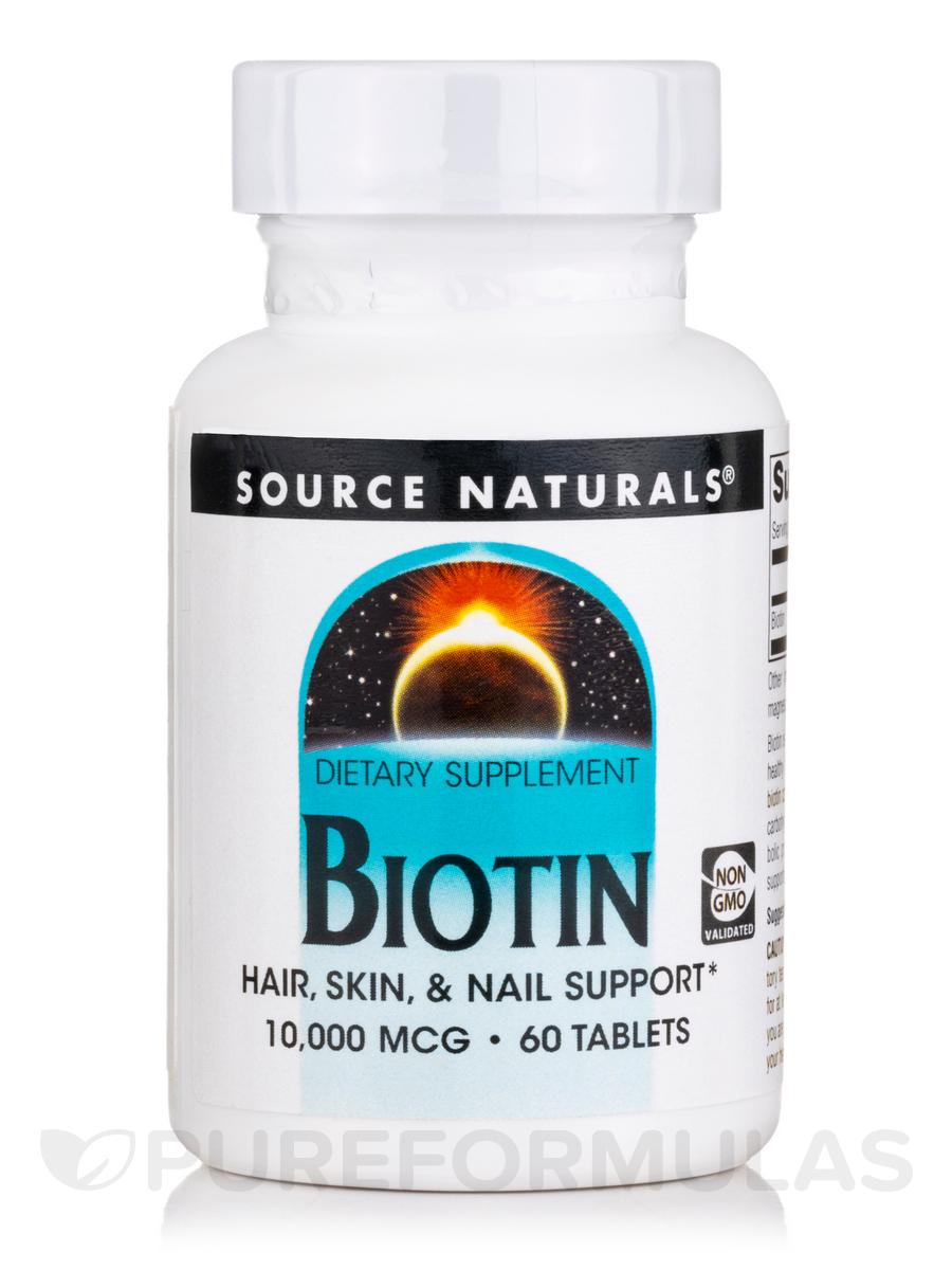 Biotin 10,000 mcg - 60 Tablets