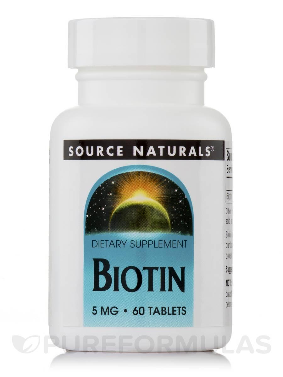 Biotin 5 mg - 60 Tablets