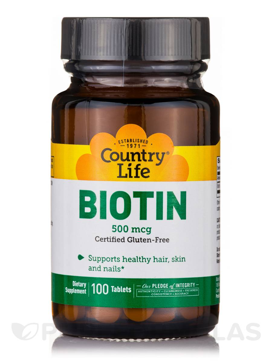 Biotin 500 mcg - 100 Tablets