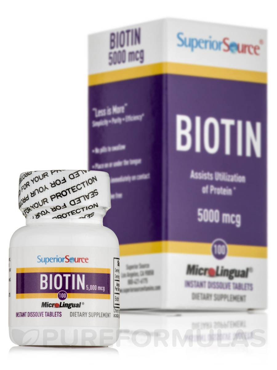 Biotin 5000 mcg - 100 Dissolvable Tablets