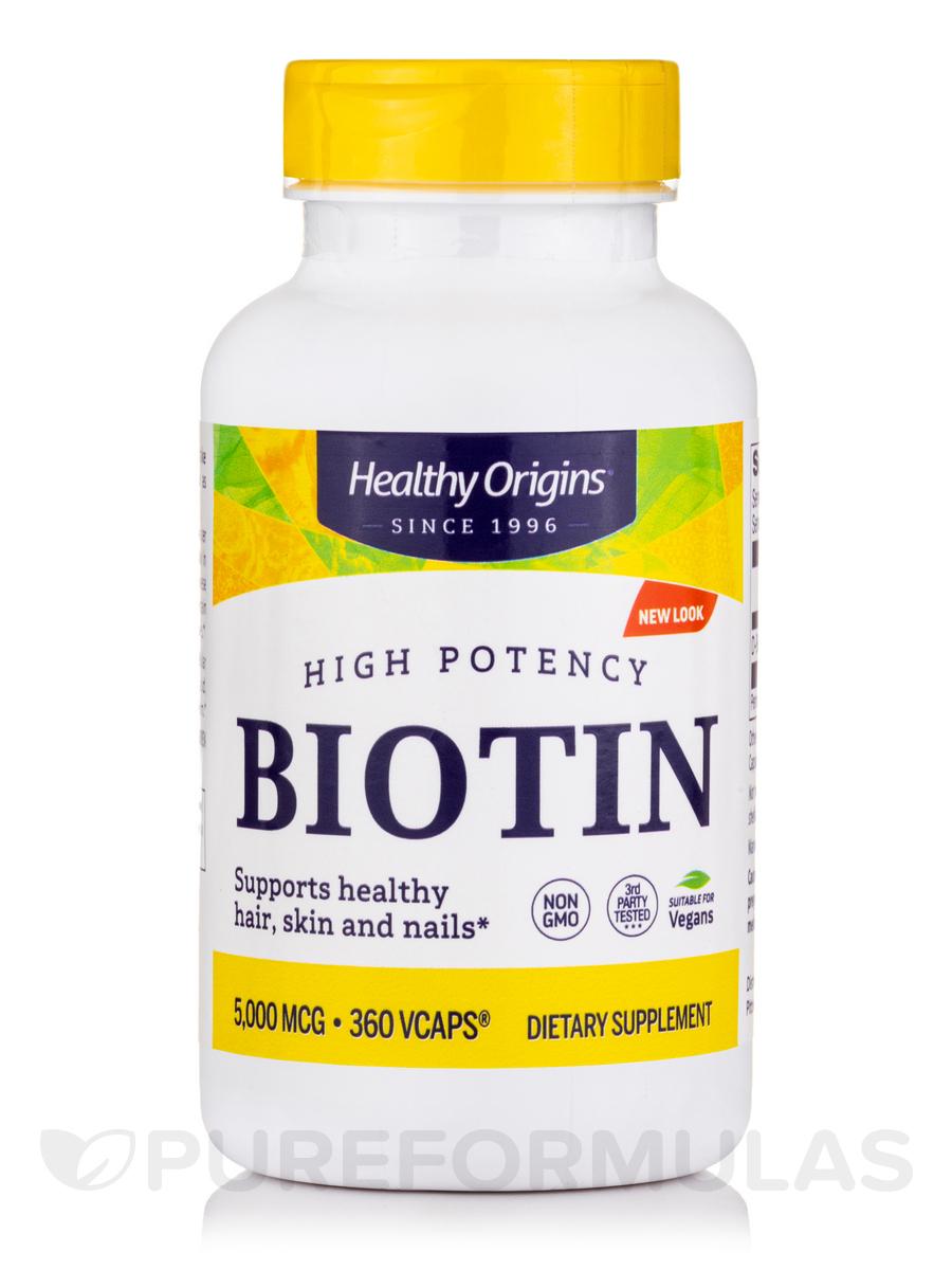 Biotin 5000 mcg - 360 VCaps®