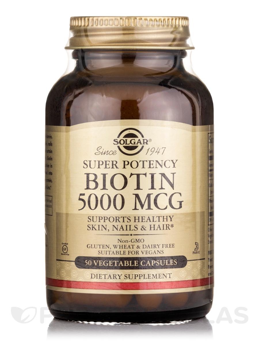 Biotin 5000 mcg - 50 Vegetable Capsules