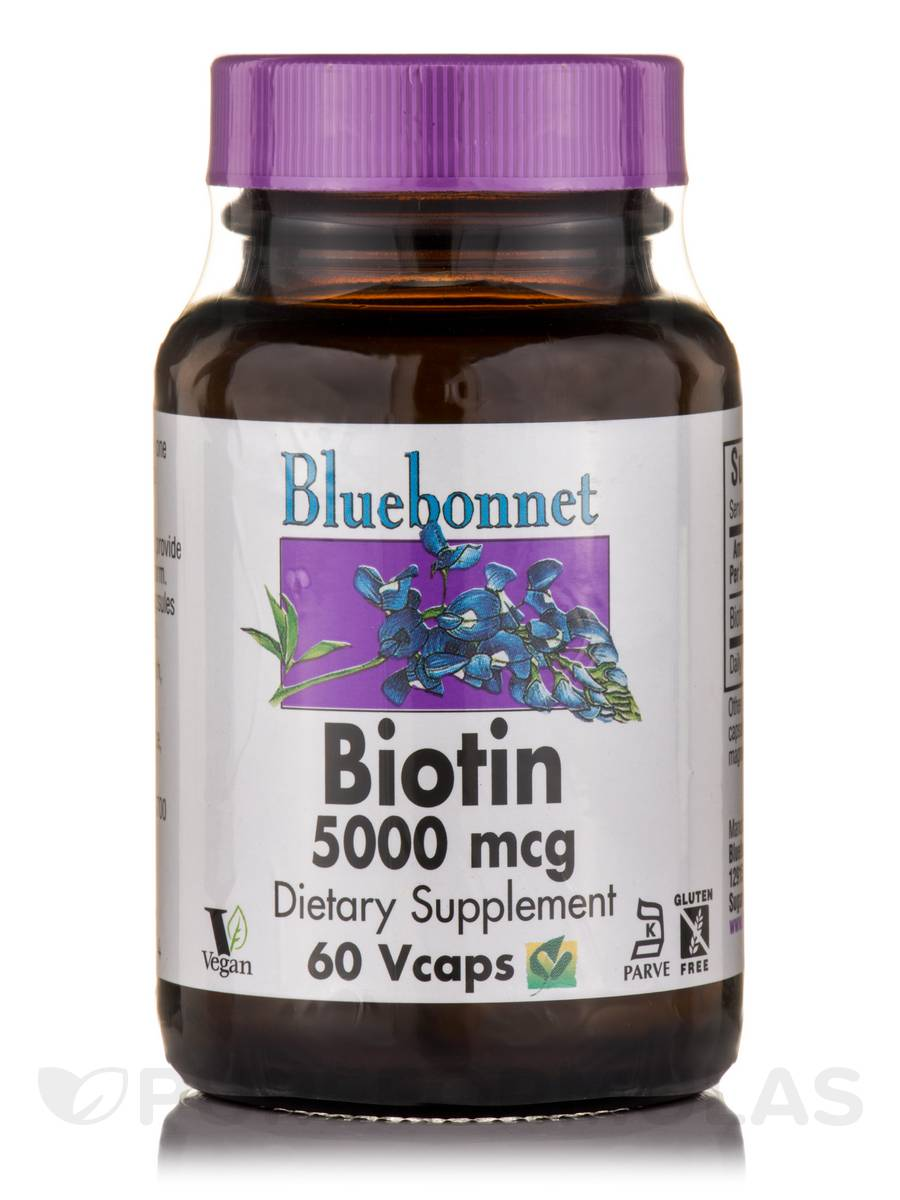 Biotin 5000 mcg - 60 Vegetable Capsules