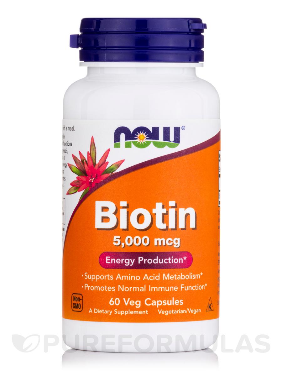 Biotin 5000 mcg - 60 Veg Capsules