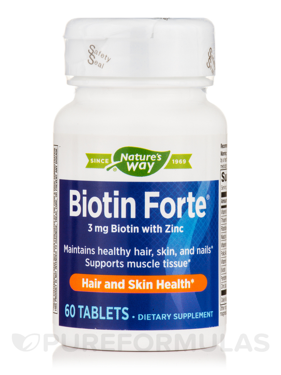 Biotin Forte® 3 mg with Zinc - 60 Tablets