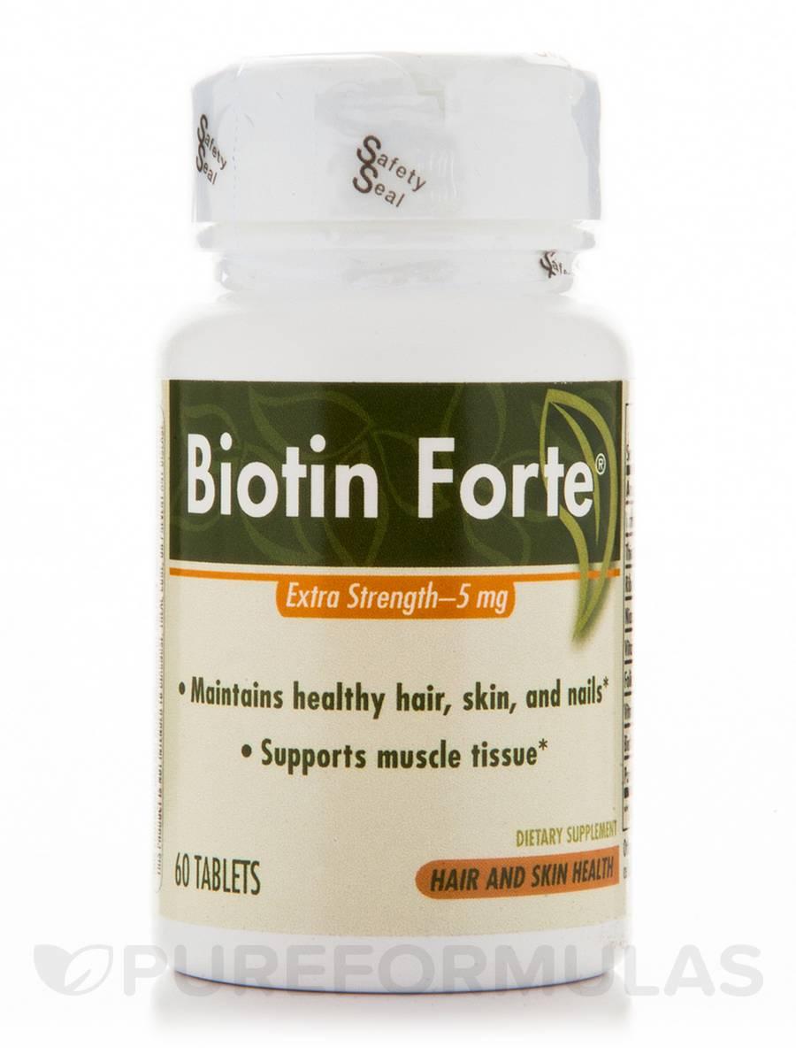 Biotin Forte 5 mg w/o Zinc - 60 Tablets