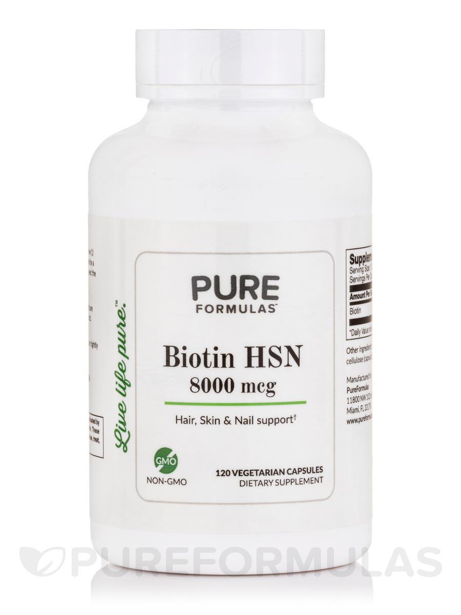 Biotin HSN 8000 mcg - 120 Vegetarian Capsules