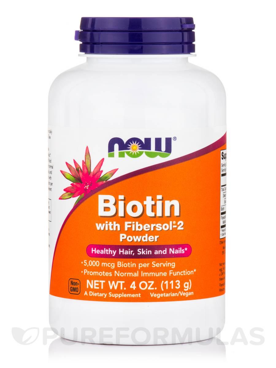 Biotin with Fibersol®-2 Powder - 4 oz (113 Grams)