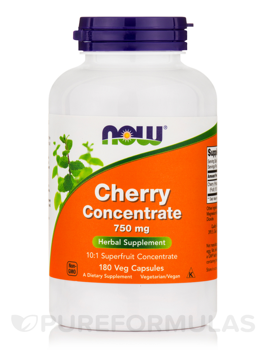 Black Cherry Fruit Extract 750 mg - 180 Veg Capsules