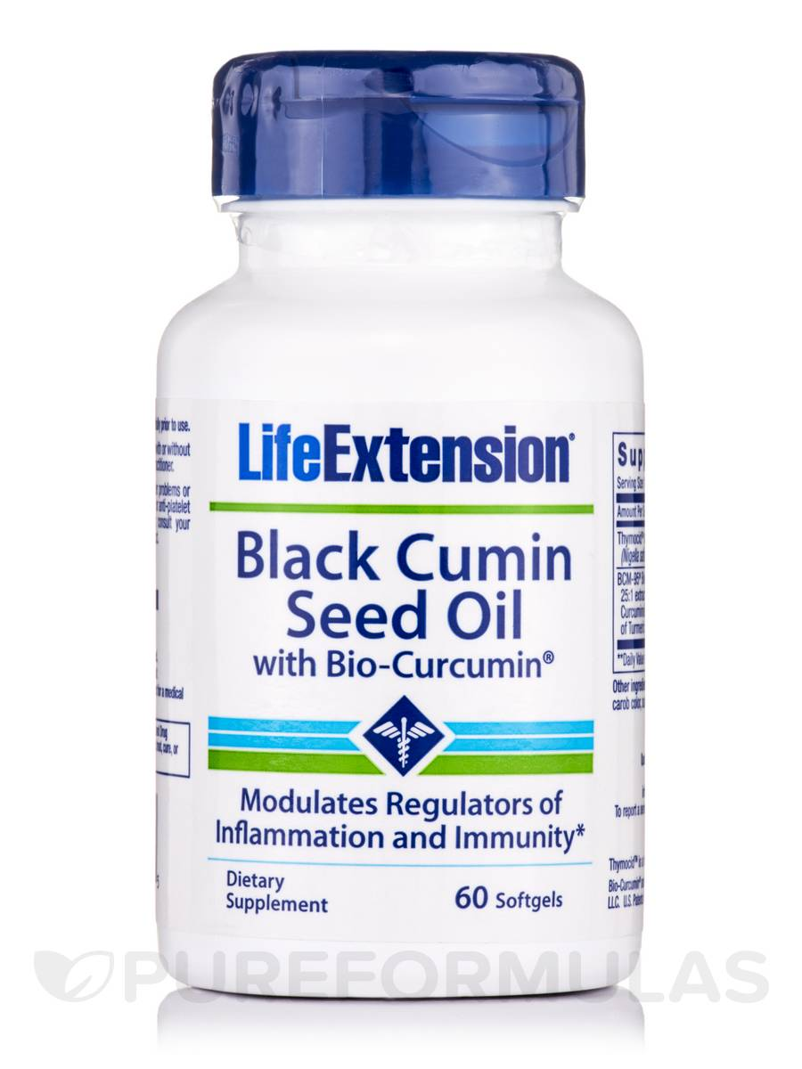 Black Cumin Seed Oil with Bio-Curcumin® - 60 Softgels