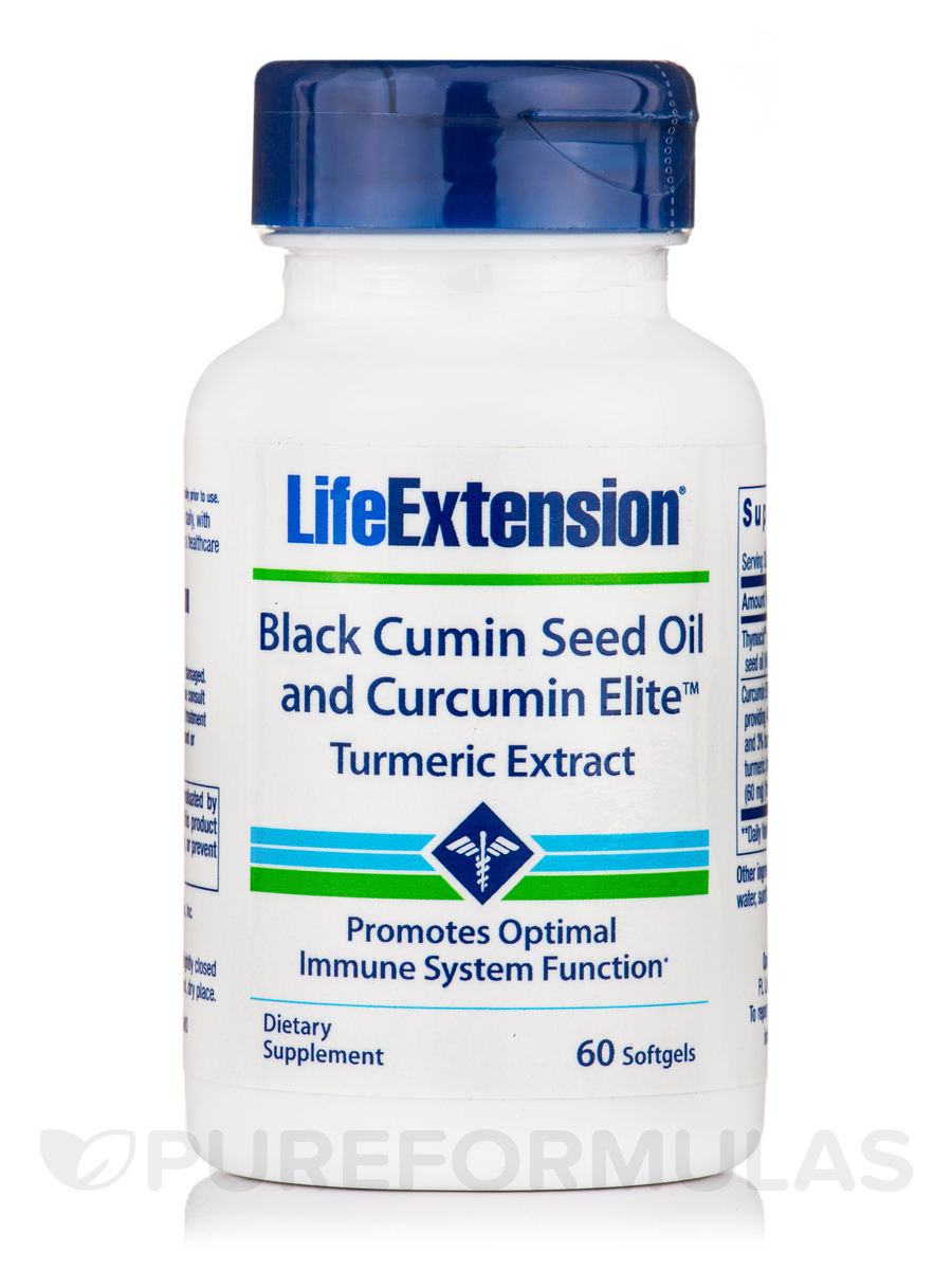 Black Cumin Seed Oil with Curcumin Elite™ Turmeric Extract - 60 Softgels