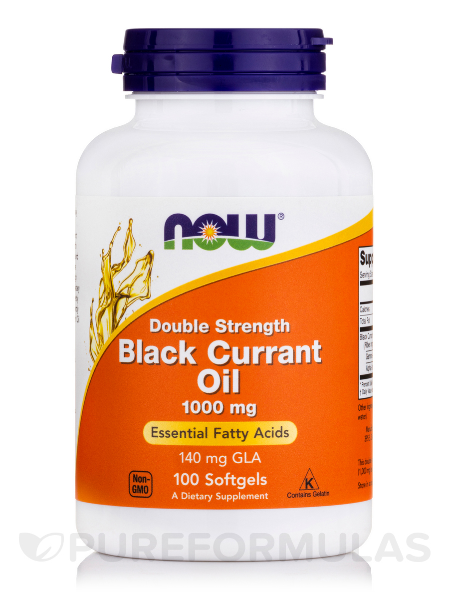 Black Currant Oil 1,000 mg - 100 Softgels