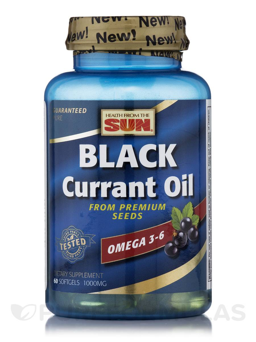 Black Currant Oil 1000 mg - 60 Softgels