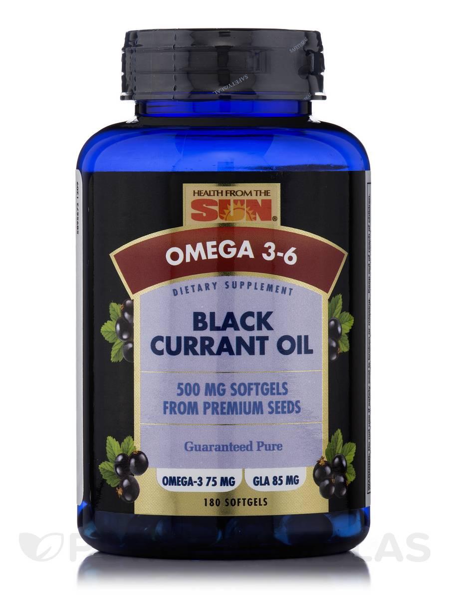 Black Currant Oil 500 mg - 180 Softgels