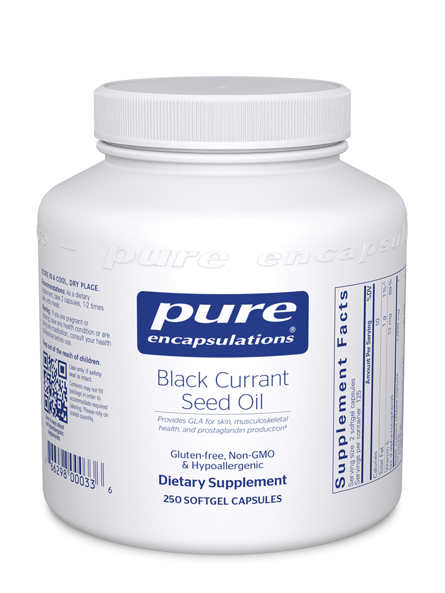 Black Currant Seed Oil - 250 Softgel Capsules