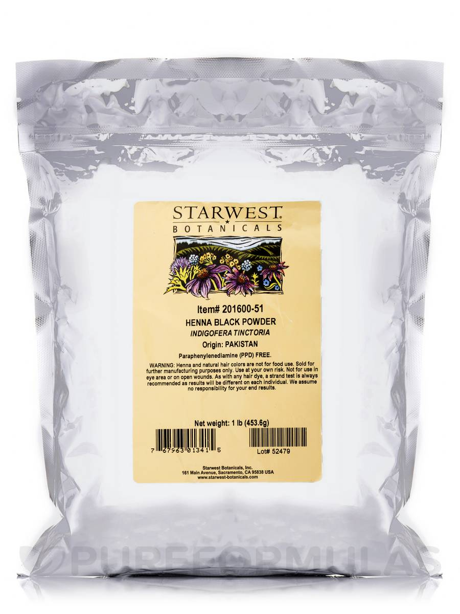 Black Henna Powder - 1 lb (453.6 Grams)