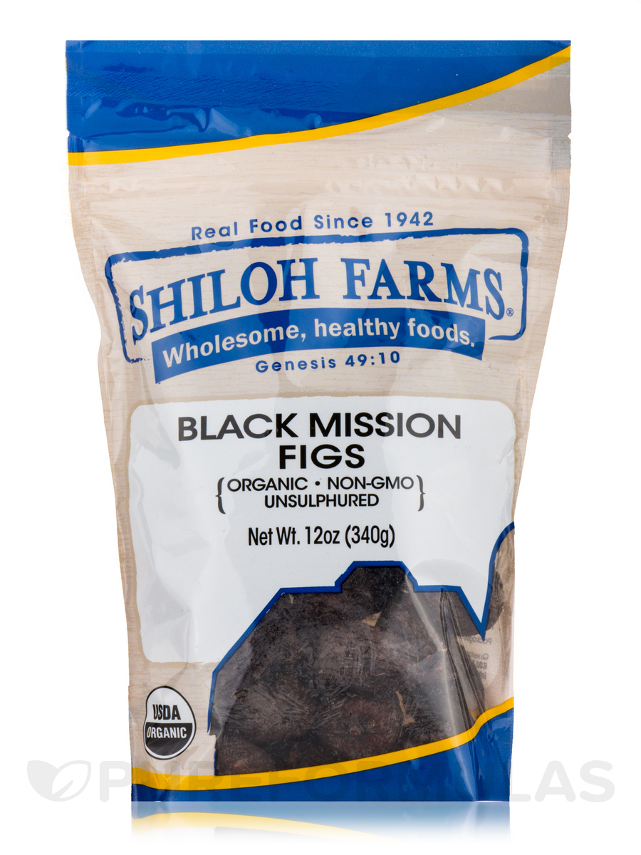 Black Mission Figs, Organic - 12 oz (340 Grams)