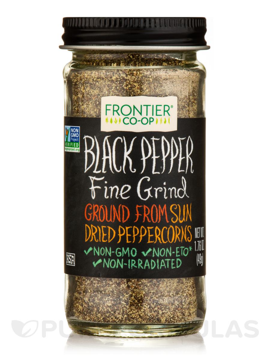 Black Pepper, Fine Grind - 1.76 oz (49 Grams)