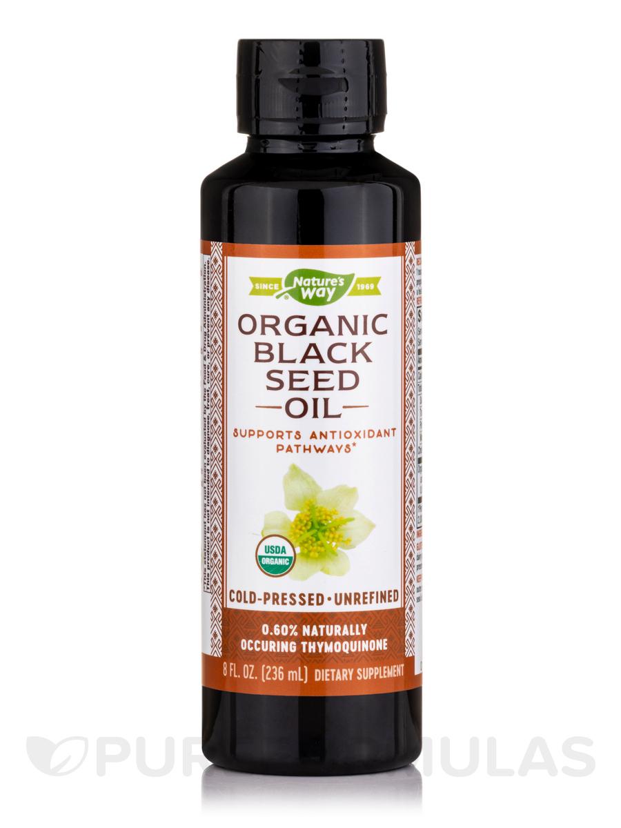 Black Seed Oil, 100% Organic, Cold-Pressed & Unrefined - 8 fl. oz (235 ml)