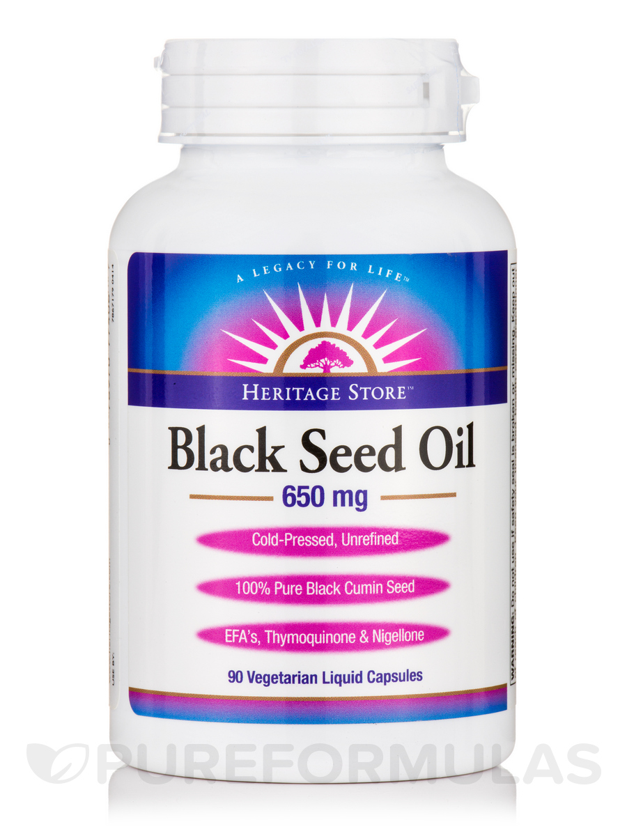 Black Seed Oil 650 mg - 90 Vegetarian Liquid Capsules