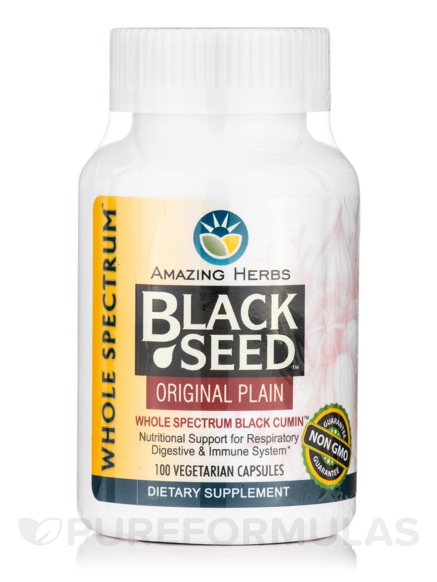 Black Seed Original Plain - 100 Vegetarian Capsules