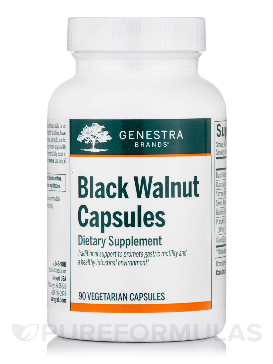 Black Walnut Capsules - 90 Vegetable Capsules