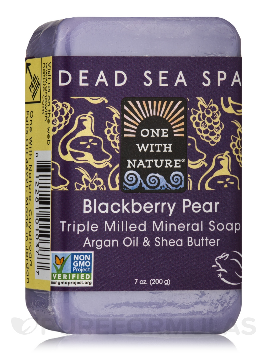Blackberry Pear - Triple Milled Mineral Soap Bar with Argan Oil & Shea Butter - 7 oz (200 Grams)