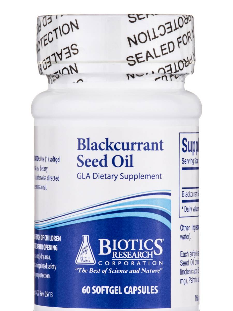 Blackcurrant Seed Oil - 60 Softgel Capsules