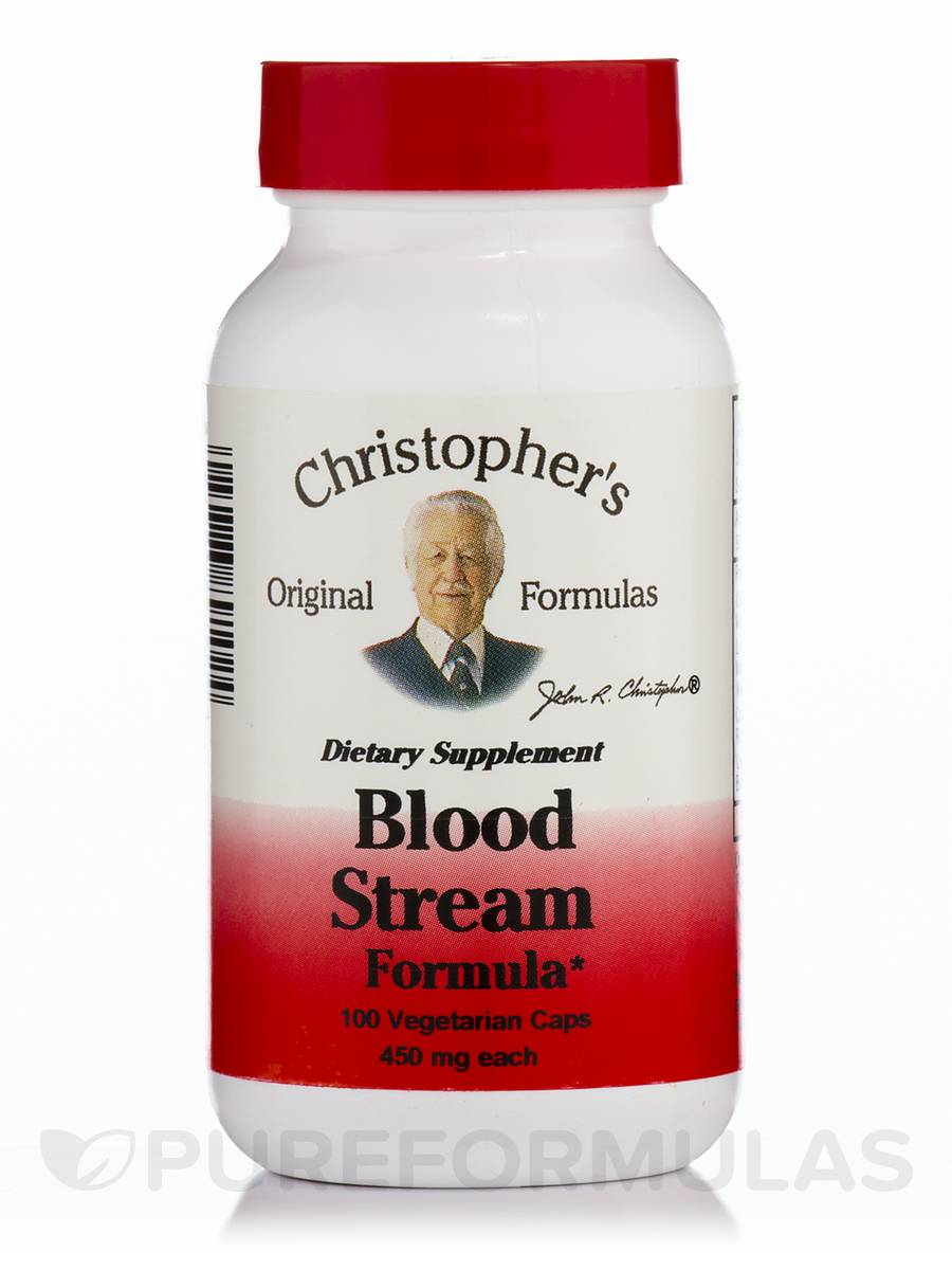 Blood Stream Formula - 100 Vegetarian Capsules
