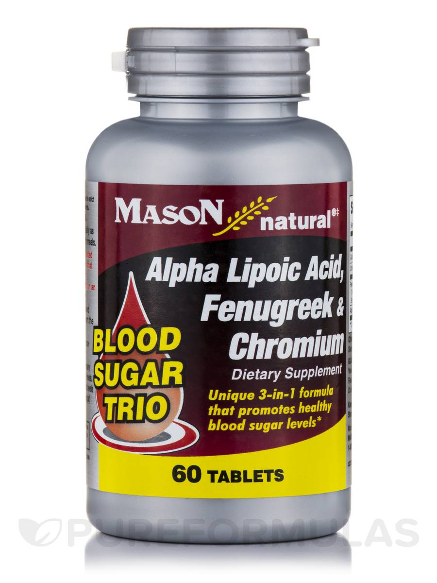 Blood Sugar Trio (Alpha Lipoic Acid, Fenugreek & Chromium) - 60 Tablets