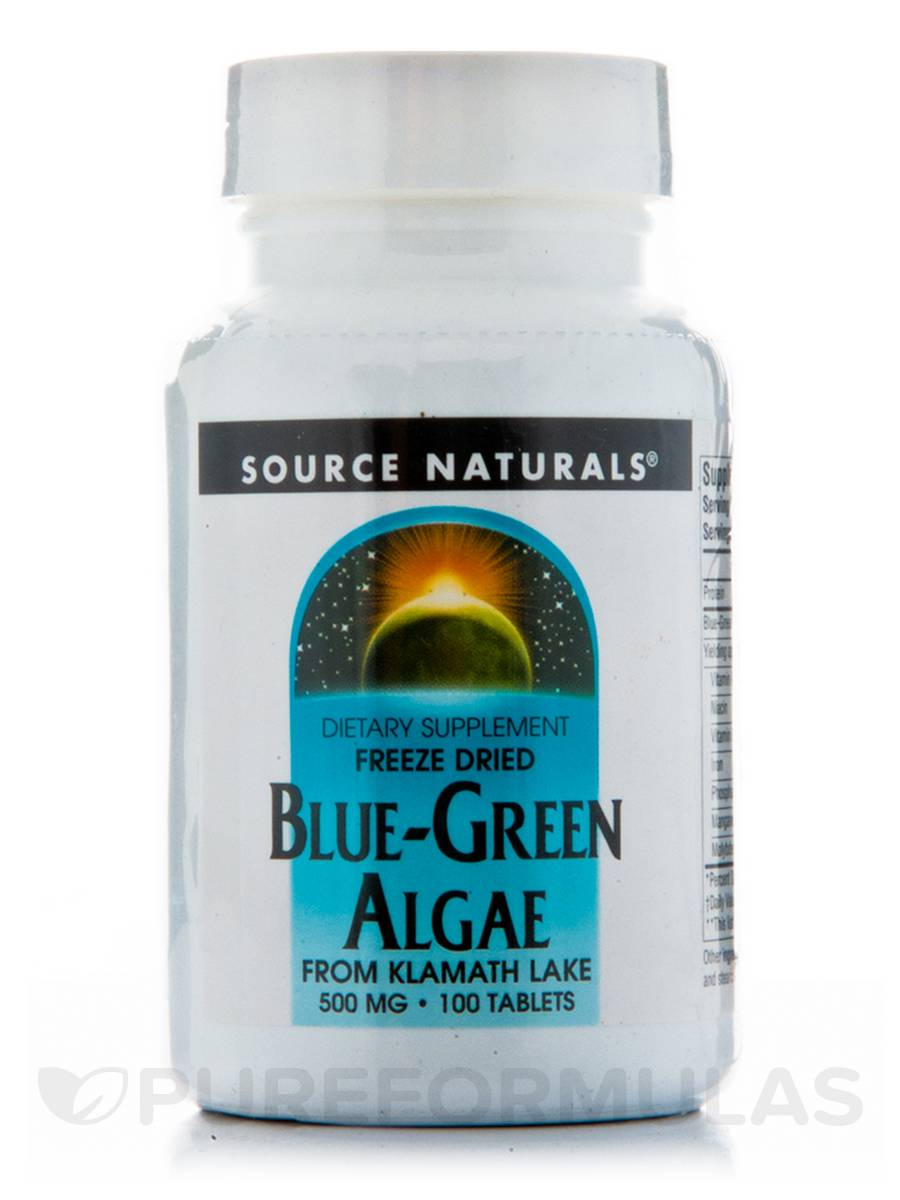 Blue Green Algae 500 mg - 100 Tablets