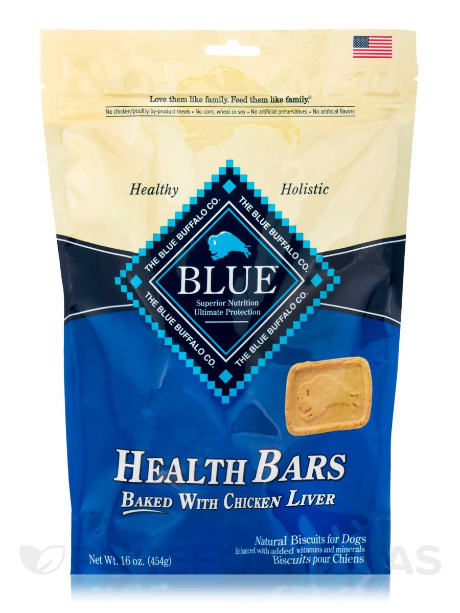 BLUE Health Bars - Natural Biscuits for Dogs, Baked with Chicken Liver - 16 oz (454 Grams)