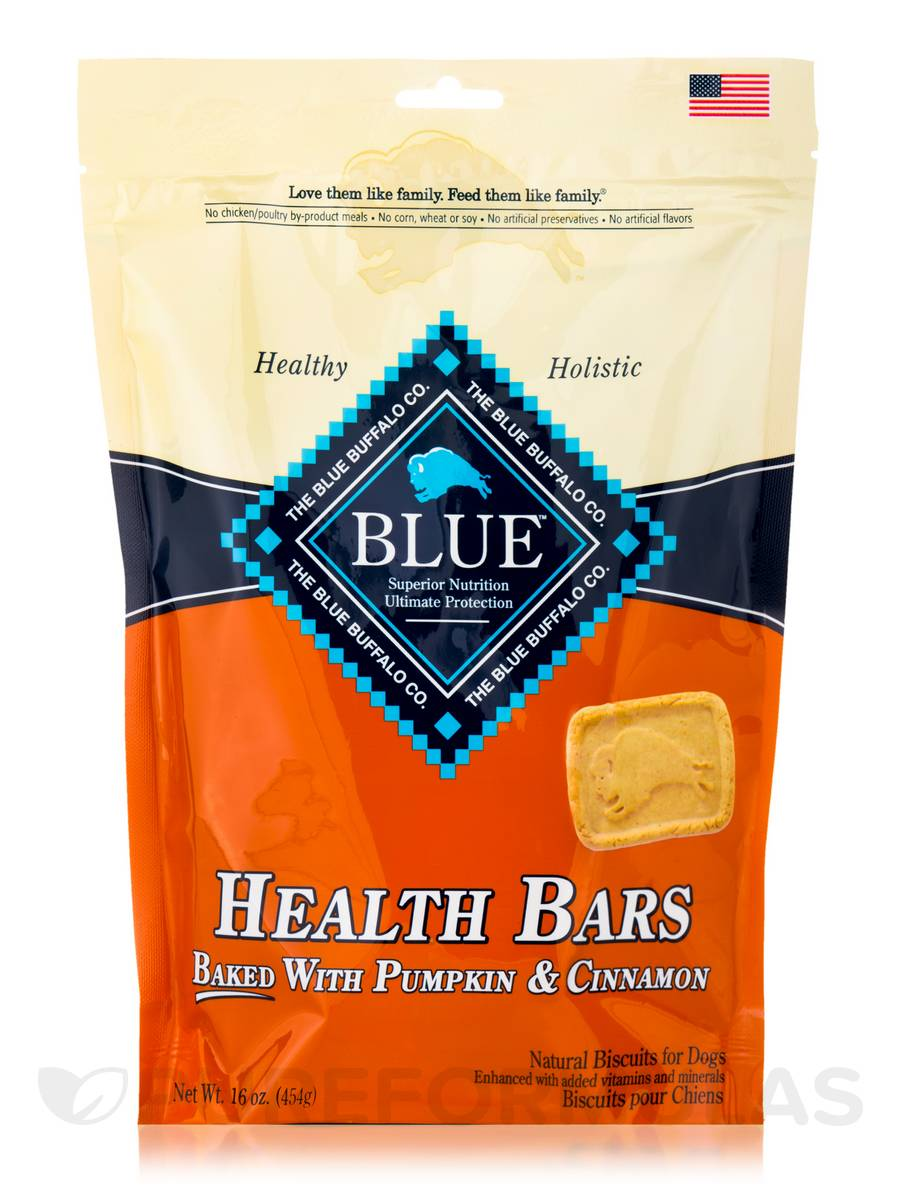 BLUE Health Bars - Natural Biscuits for Dogs, Baked with Pumpkin & Cinnamon - 16 oz (454 Grams)
