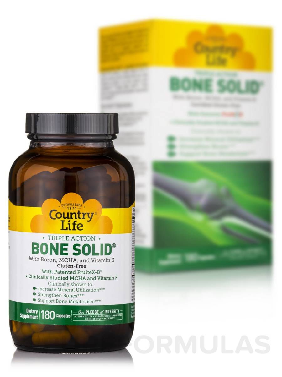 Bone Solid® (Triple Action) - 180 Capsules