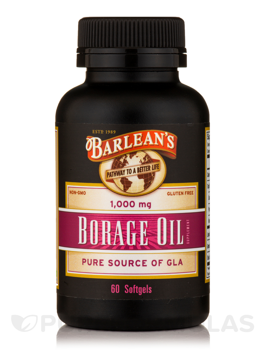 Borage Oil 1000 mg - 60 Softgels