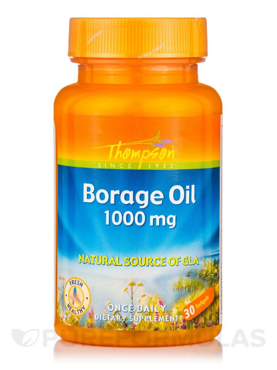 Borage Oil 1000 mg (Natural Source of GLA) - 30 Softgels