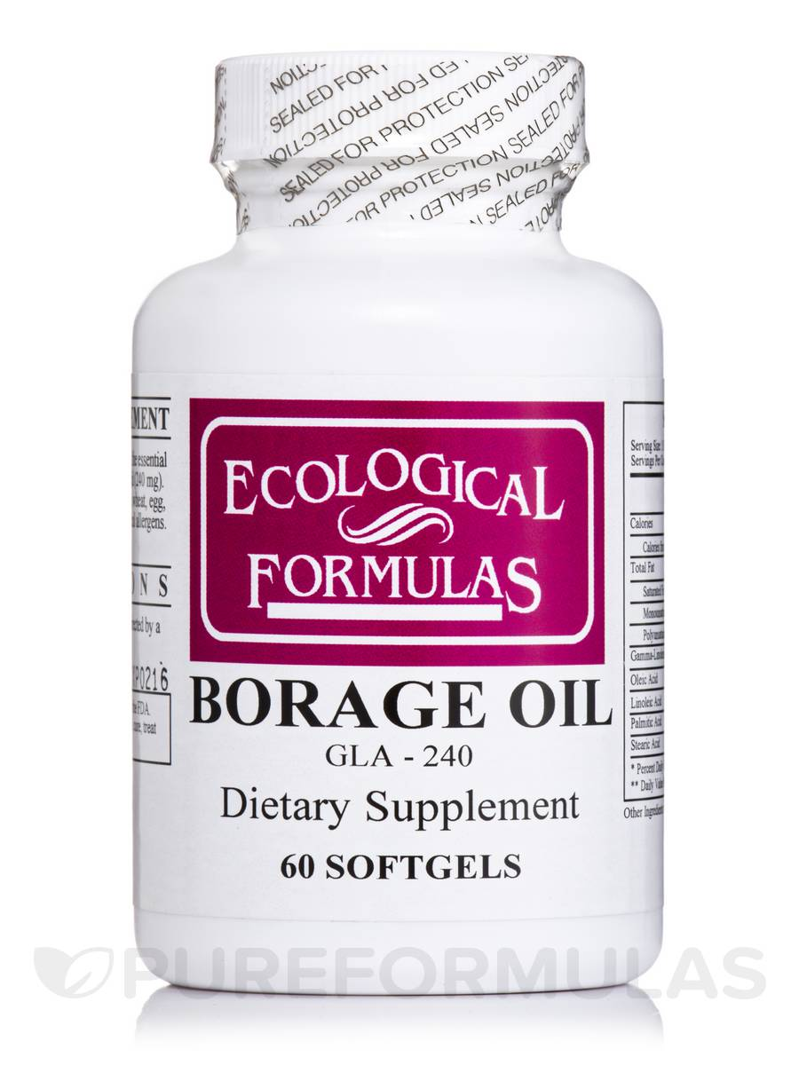 Borage Oil GLA-240 - 60 Capsules