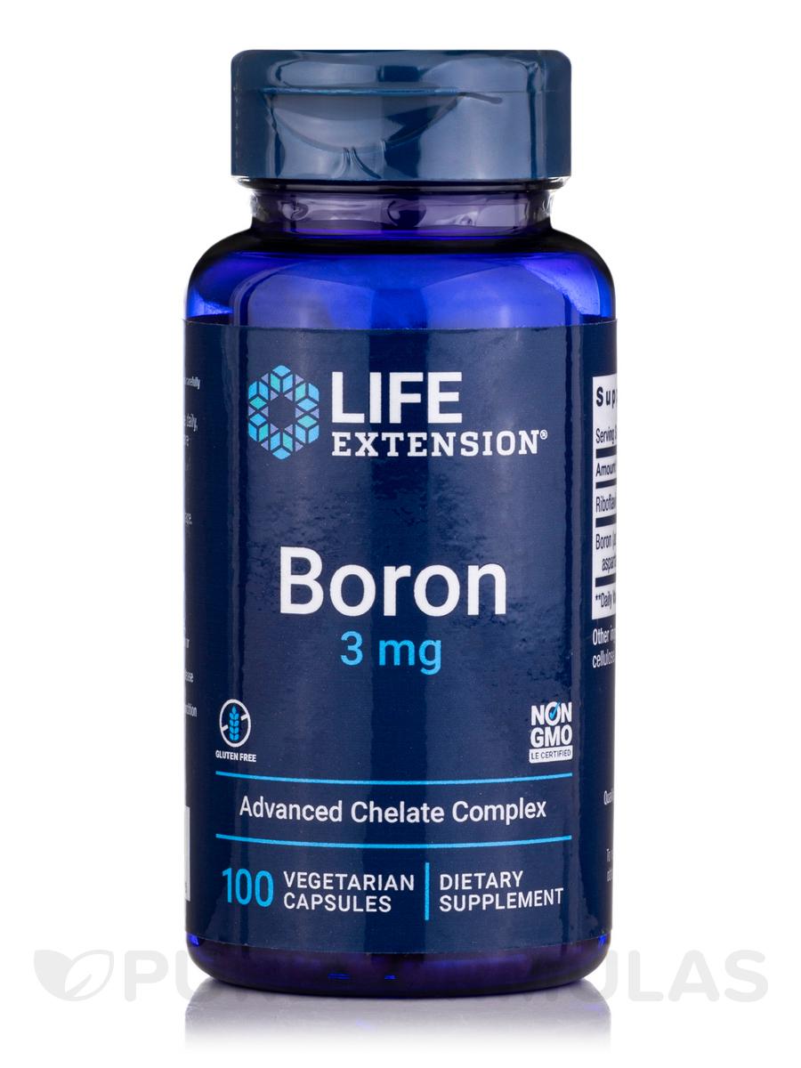 Boron 3 mg - 100 Vegetarian Capsules